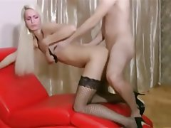 Anal, Blonde, German, Stockings