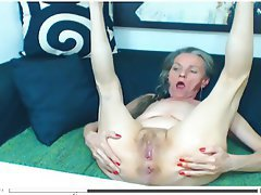 Granny, Hairy, Mature, Webcam