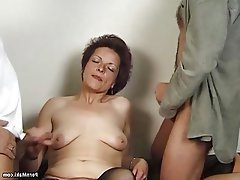 Granny, Hairy, Mature, Old and Young, Saggy Tits