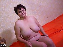 Czech, Granny, Masturbation, Mature
