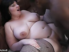 BBW, Big Boobs, Interracial