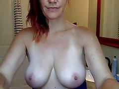 Mature, Redhead, Webcam