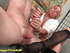 Mature, Big Boobs, Handjob, MILF