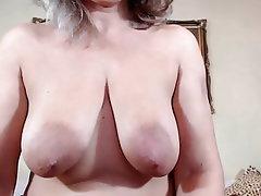 Webcam, Mature, Saggy Tits, Pussy