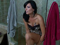 Brunette, MILF, Shower, Wife