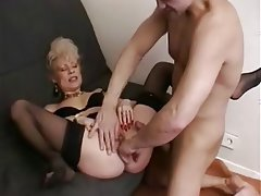 Blowjob, French, Granny, Mature, Old and Young
