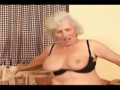 Blonde, Blowjob, Cumshot, Granny