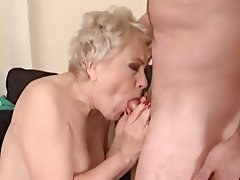 Blonde, Facial, Granny, Mature