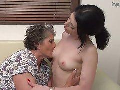 Lesbian, Granny, Mature, Hairy